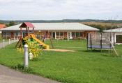 Blick auf Gemeinschafts-Haus